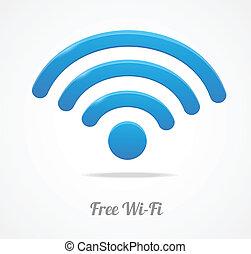 無線, wifi, 网絡, 符號。, 圖象