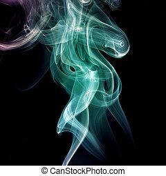 煙, 摘要, 曲線, 背景, 波浪