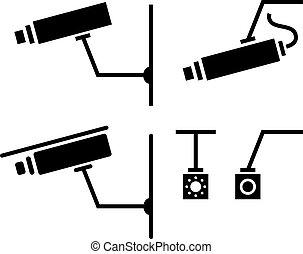 照像機, 圖象, cctv, 安全