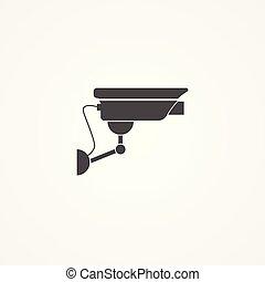 照像機, 符號, 簽署, 矢量, 安全, 圖象