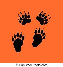 熊, 圖象, 形跡
