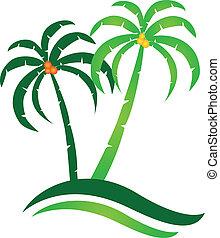 熱帶的島, 矢量, 標識語