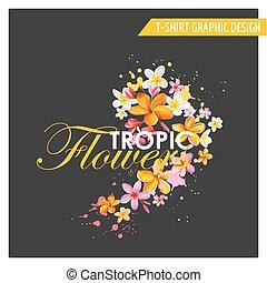 熱帶的花, 平面造型設計