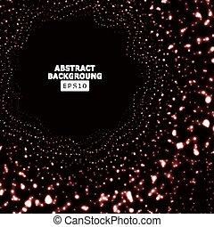 爆炸, concept., 發光, halftone., 矢量, 背景, 數字技術