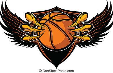 爪子, 矢量, 籃球, 爪, 鷹, 插圖