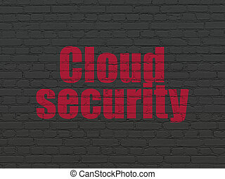 牆, 保護, concept:, 背景, 安全, 雲