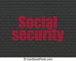 牆, 安全, 背景, 社會保險, concept: