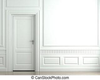 牆, 白色, 門, 第一流