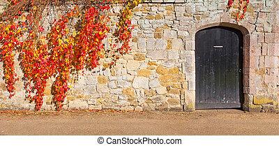 牆, 石頭, 門