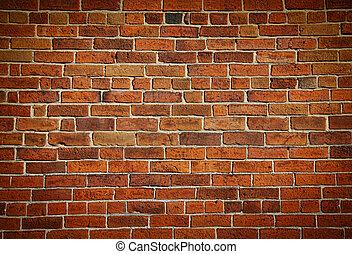 牆, 磚, 沾污, 老, 風化
