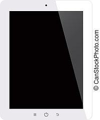 片劑, 屏幕, 被隔离, 電腦, 黑色的背景
