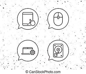 片劑, 艱難的驅車, icons., 個人電腦, 筆記本, 盤