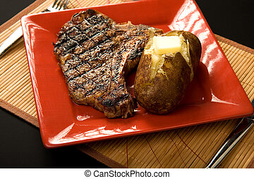 牛排, 燒硬馬鈴薯