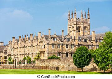 牛津, merton, 英國, college.
