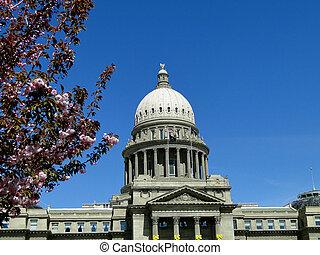 狀態, 愛達荷, 春天, 州議會大廈