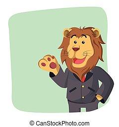 獅子, 綠色的商務, 背景