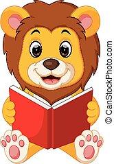 獅子, 讀書