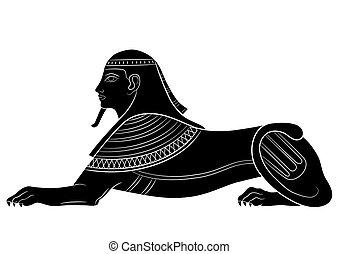 獅身人面像, -, mythical生物