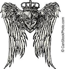 王室的象征, 機翼, 紋身