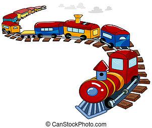 玩具火車, 背景