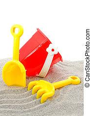 玩, 塑料, 海灘玩具
