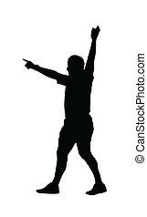 玩, 裁判員, 黑色半面畫像, 駒, 足球, -, 橄欖球, 運動, 表明