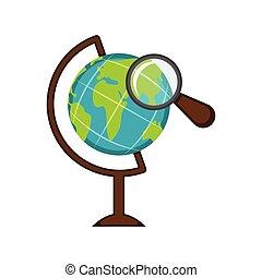 玻璃球体, 圖象, 擴大, 地球