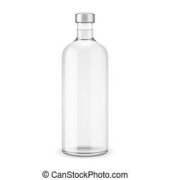 玻璃, 伏特加酒, cap., 瓶子, 銀