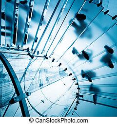 玻璃, 現代, 樓梯
