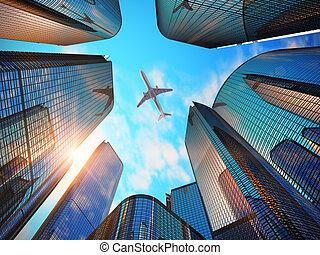 現代的商務, 地區, 摩天樓