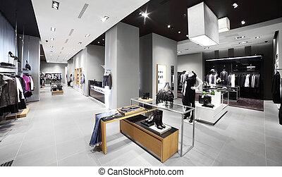 現代, 時裝, 商店, 衣服