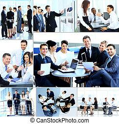 現代, 會議, businesspeople, 辦公室, 有
