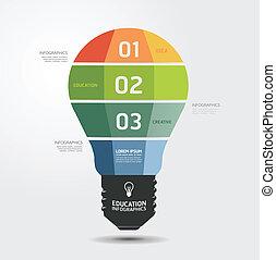 現代, infographic, 設計, 風格, 布局, /, 樣板, infographics, cutout, 最小, 網站, 是, 使用, 水平, 編號, 圖表, 光, 線, 矢量, 罐頭, 旗幟, 或者