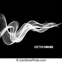 現實, 黑色的煙, 背景, 矢量