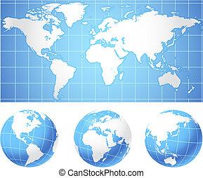 球体, 世界地圖