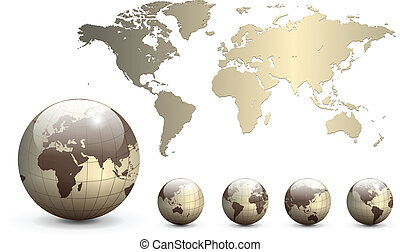 球体, 地圖, 地球, 世界