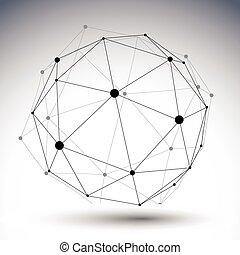 球形, 二, 顏色, 摘要, 插圖, 單個, 矢量, 排列, 3d