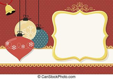 球, 圣誕節卡片