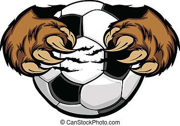 球, 承擔爪, 足球, 矢量