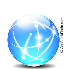 球, 球, 線, 通訊