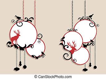 球, 矢量, 聖誕節