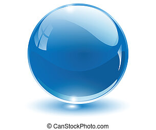 球, 3d, 水晶