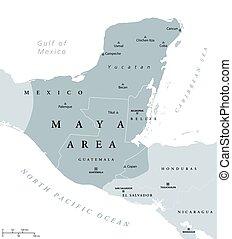 瑪雅語, 地圖, 政治, 區域