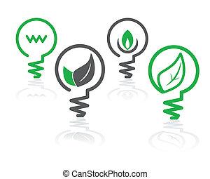 環境, 淺綠色, 燈泡, 圖象