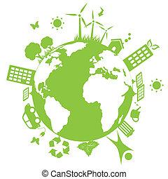 環境, 綠色的地球