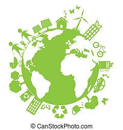 環境, 綠色, 打掃