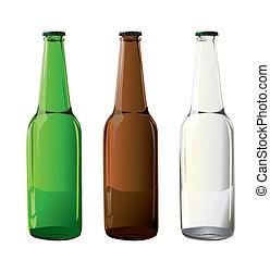 瓶子, 啤酒, 矢量