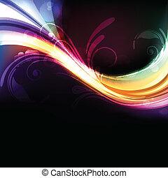 生動, 摘要, 鮮艷, 明亮, 矢量, 背景