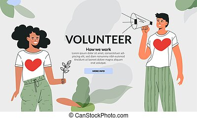生態學, 網站, 綠色, activities., 樣板, fot, 自愿獻出, lover., 矢量, 社會, 人們, 關心, 套間, 慈善, illustration., 卡通, 頭腦, 活躍, concept., 環境, 多种多樣, 社區