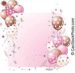 生日卡片, 粉紅色